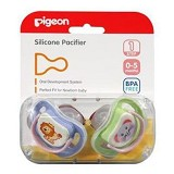 PIGEON Silicone Pacifier Step 1 - 2pcs [PR050612] - Dot Bayi / Pacifier & Teethers